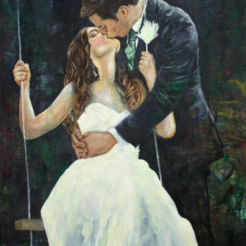 Mr. & Mrs. Dimenichi | Oil on Canvas | 30 x 48"